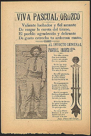 First Battle of Rellano - Image: Orozco poem