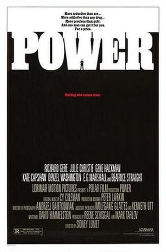Power (1986 film) - Theatrical release poster