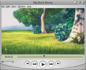 QuickTime Player 7.6.6 playing Big Buck Bunny running on Microsoft Windows