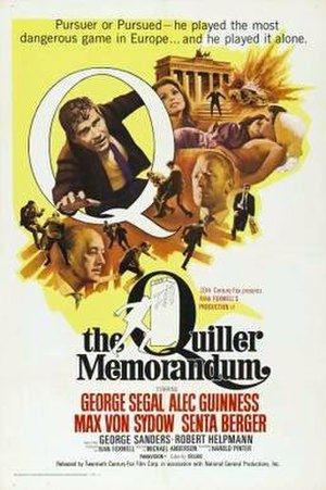 The Quiller Memorandum - Film poster by Tom Beauvais