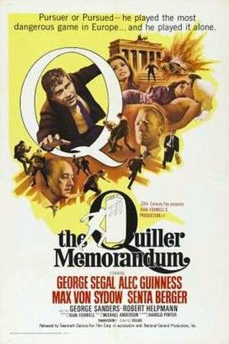 The Quiller Memorandum - Film poster by Tom Beauvais