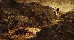 Symphonic poem - Honoré Daumier, Painting of Don Quixote, c.1855-1865