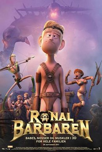Ronal the Barbarian - Danish theatrical releases poster