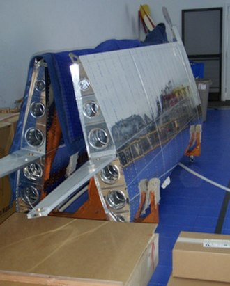 Van's Aircraft RV-12 - The completed detachable wings stored in a wing stand.
