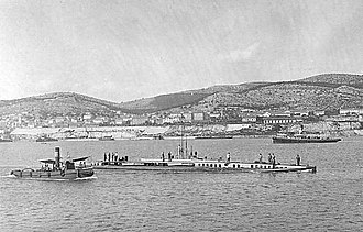 SM U-14 (Austria-Hungary) - An Austro-Hungarian wartime postcard of the submarine in Austro-Hungarian Navy service as SM U-14.