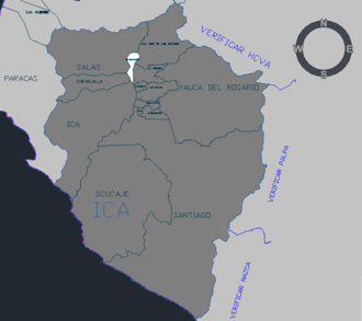 San Juan Bautista District, Ica - San Juan Bautista district of Ica Province within Ica Region, Peru.