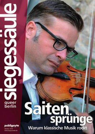 Siegessäule (magazine) - Cover of the October 2010 edition