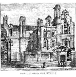 Charles Reed (British politician) - One of the early London School Board schools: Stoke Newington High Street 1877