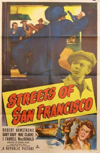 Streets of San Francisco (film) - Theatrical release poster