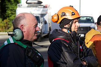 Tim Jones (Search and Rescue) - Jones supervises helicopter rescue training