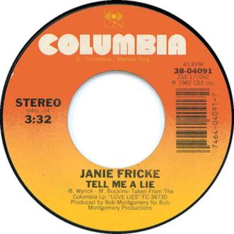 Tell Me a Lie - Image: Tell Me A Lie JF