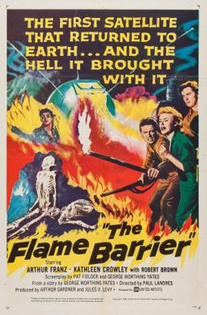 The Flame Barrier - Theatrical release poster