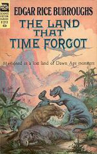 The Land That Time Forgot (novel) - Cover art for first separate edition of The Land That Time Forgot by Edgar Rice Burroughs, Ace Books, 1963.