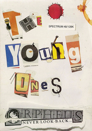 The Young Ones (video game) - ZX Spectrum cassette cover art.