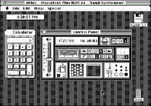 VMac - vMac 0.1.9 running System 1.1 on System 7.5
