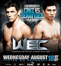 A poster or logo for WEC 50: Cruz vs. Benavidez 2.
