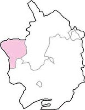 West Monmouthshire (UK Parliament constituency) - The constituency (shown in pink) within Monmouthshire