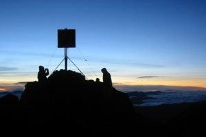 Mount Wilhelm - Dawn breaking on top of Mount Wilhelm