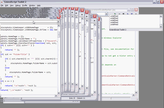 Visual artifact - A screenshot of a Microsoft Windows XP application displaying a visual artifact with repeated frames.