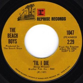 'Til I Die - Image: 'Til I Die single