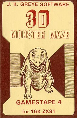 J. K. Greye Software - 3D Monster Maze as released by J.K. Greye Software in 1981