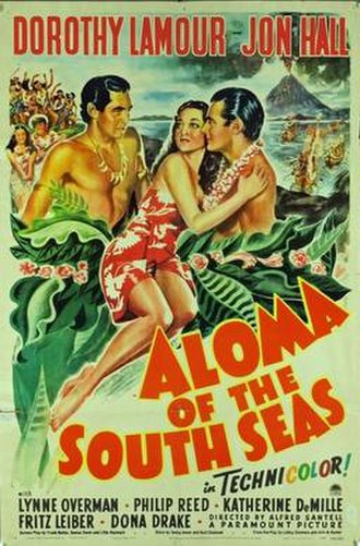 Aloma of the South Seas (1941 film) - Theatrical release poster