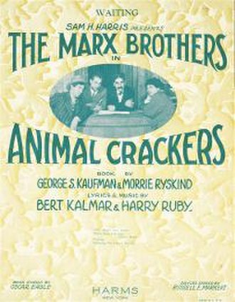 Animal Crackers (musical) - Sheet Music for a song from the 1928 original Broadway production