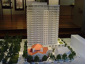 Architectural model - An architectural model promoting a highrise condominium