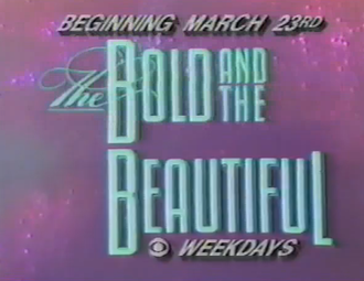 The Bold and the Beautiful - Pre launch logo for The Bold and the Beautiful, used in promos.
