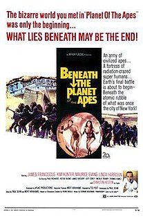 1970 science fiction film sequel of Planet of the Apes directed by Ted Post