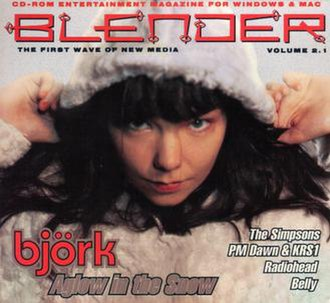 Blender (magazine) - Issue 2.1 from 1995, featuring Björk