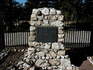 Buffalo Bill's grave on Lookout Mountain in Colorado