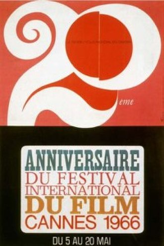 1966 Cannes Film Festival - Official poster of the 19th Cannes Film Festival,  an original illustration by Rene Ferracci.