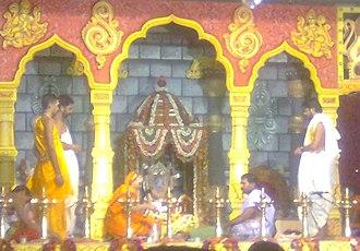 Chaturmas - A Sansyasi performing Vyasa puja as a part of Chaturmas rituals