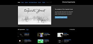 Google Chrome Experiments - Image: Chrome Experiment Screenshot
