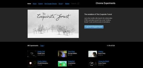 Chrome Experiment Screenshot