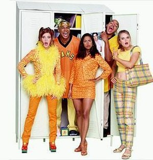 Clueless (TV series) - The main characters of Clueless, (from left to right), Amber, Sean, Dionne, Murray, and Cher.