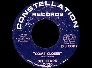 Come Closer (Dee Clark song) - Image: Come Closer (Dee Clark song)