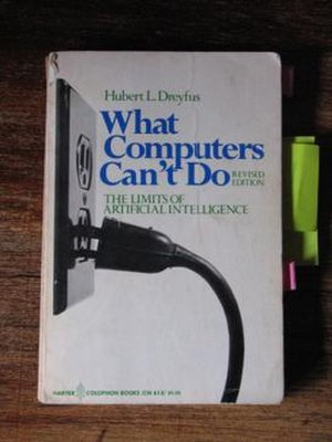 Hubert Dreyfus's views on artificial intelligence - Book cover of the 1979 paperback edition