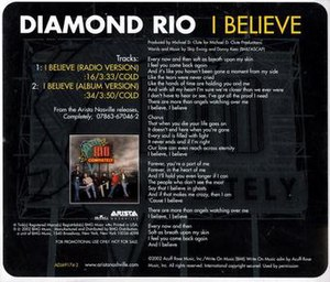 I Believe (Diamond Rio song) - Image: Diamond Rio I Believe promo