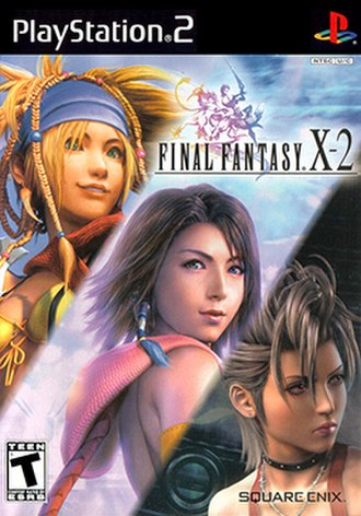 Final Fantasy X-2 - North American box art depicting the main playable characters Rikku, Yuna and Paine