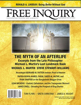Free Inquiry - Vol. 35 issue 5 cover.