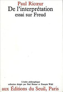 <i>Freud and Philosophy</i> 1965 book by Paul Ricœur