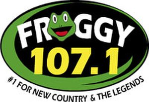 WKBE - Former Froggy 107.1 logo, 2005–2013