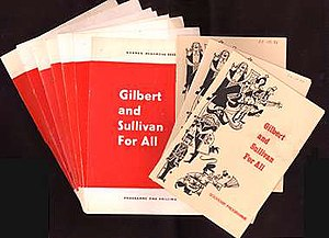 Gilbert and Sullivan for All - Programme covers