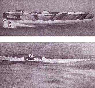 Motorised Submersible Canoe - Image: Gal soe sleeping beauty
