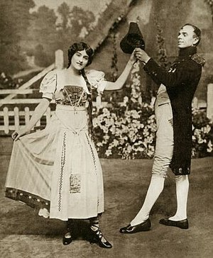 George Grossmith Jr. - with Emmy Wehlen in The Girl on the Film