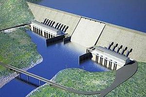 Grand Ethiopian Renaissance Dam - Image: Grand Ethiopian Renaissance Dam Salini Rendition