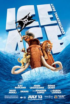 Ice Age: Continental Drift - Theatrical release poster
