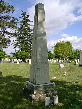 Isaac Scott - Grave site of Isaac and Lydia in Oatka Cemetery
